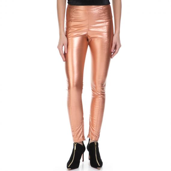 J'AIME LES GARCONS - Γυναικείο παντελόνι J'AIME LES GARCONS ροζ χρυσό