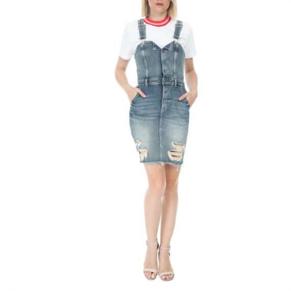 GUESS - Γυναικείο mini φόρεμα GUESS EARLINE PINAFORE μπλε
