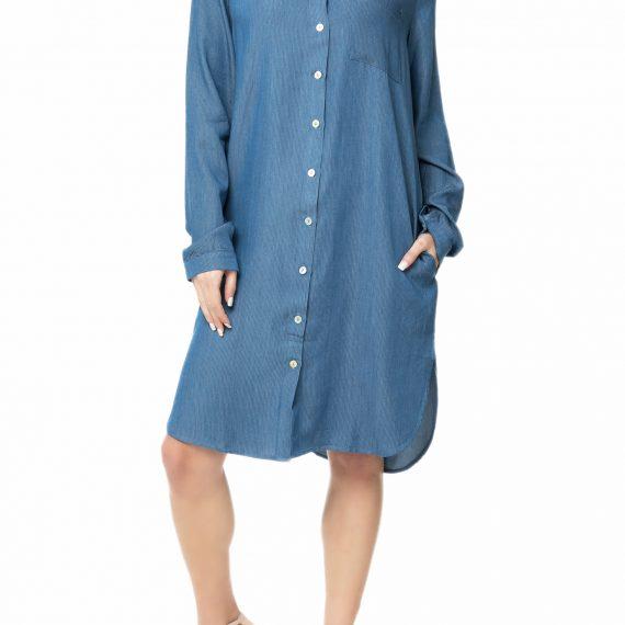 LA DOLLS - Γυναικείο τζιν φόρεμα L.A. DOLLS BLUE SKY μπλε