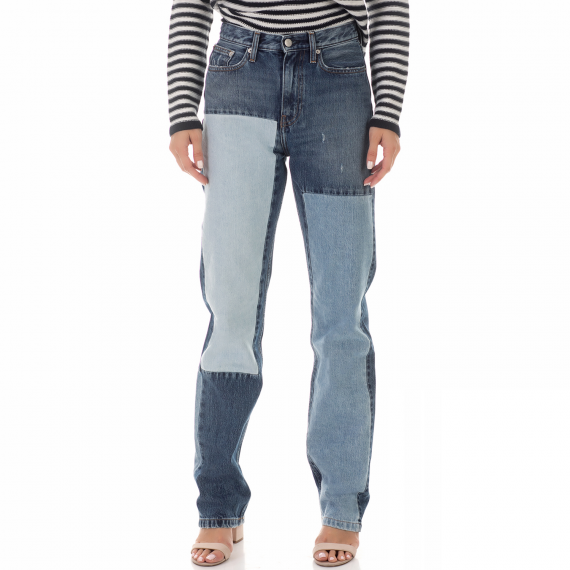 CALVIN KLEIN JEANS - Γυναικείο jean παντελόνι CALVIN KLEIN JEANS μπλε