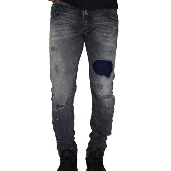 Ανδρικό παντελόνι Cosi γκρι με μπάλωμα 50BLAKE3