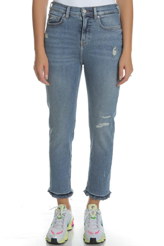 SCOTCH & SODA - Γυναικείο jean παντελόνι SCOTCH & SODA High Five Cropped μπλε