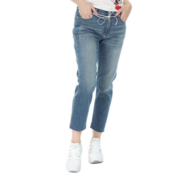 SCOTCH & SODA - Γυναικείο cropped jean παντελόνι SCOTCH & SODA Petit Ami μπλε