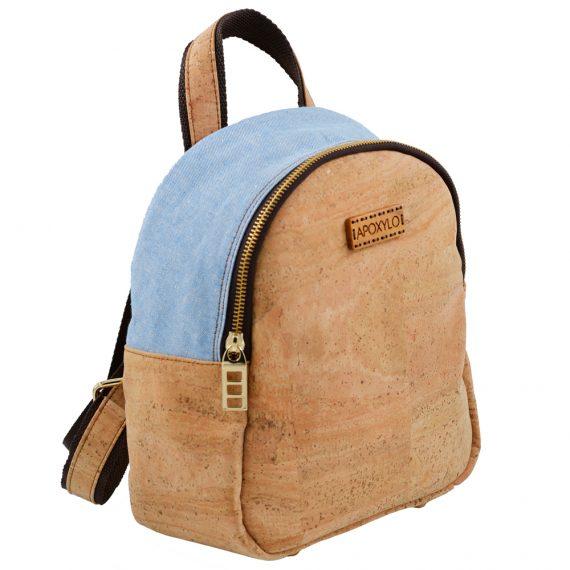 APOXYLO - Γυναικείο backpack APOXYLO 352.2 MINI FASHION εκρού μπλε