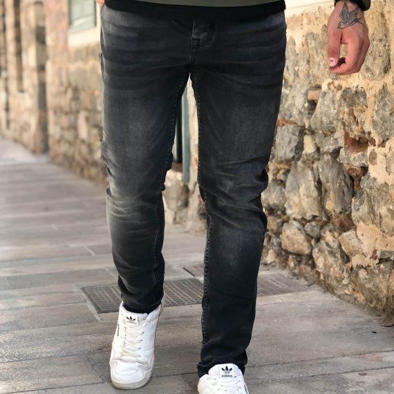 Ανδρικό γκρι τζιν παντελόνι ξεθωριασμένο DR4076