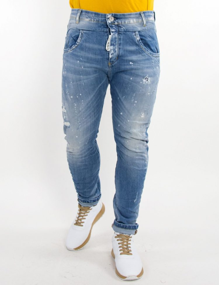 Ανδρικό μπλε τζιν παντελόνι φθορές Cosi 55GARRAIA1