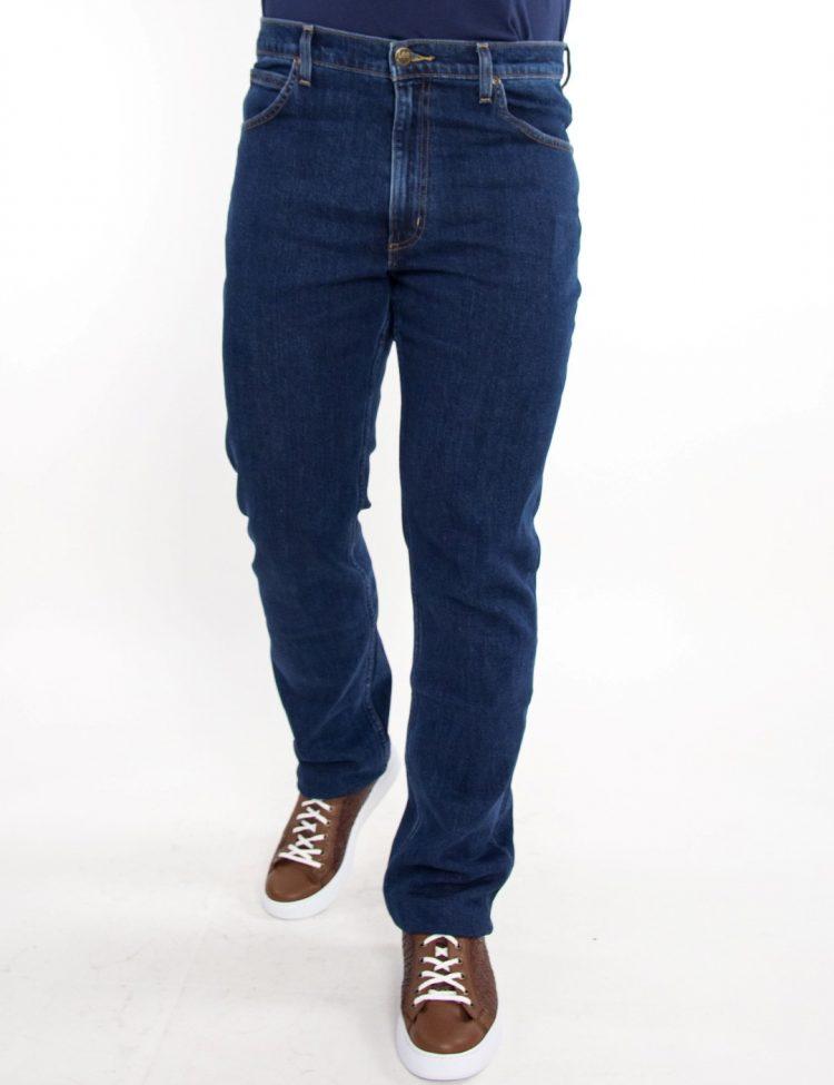 Lee Brooklyn Straight ανδρικό τζιν παντελόνι σκούρο μπλε L452JXXG