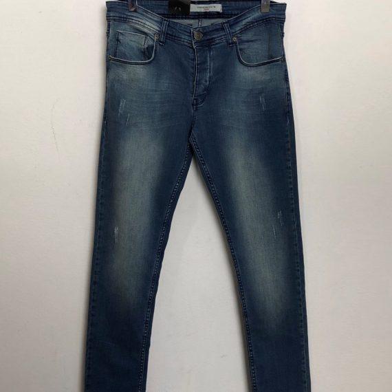 Ανδρικό μπλε ξεβαμμένο τζιν παντελόνι σωλήνας 20379