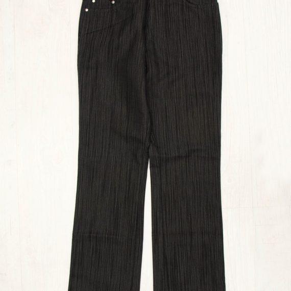 Ανδρικό μαύρο υφασμάτινο παντελόνι με λεπτή ρίγα Z33