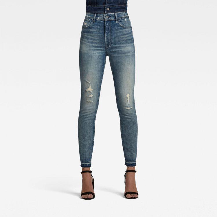 Ανδρικό παντελόνι G-Star Kafey Ultra High Skinny Ripped Edge Ankle Jeans Αυθεντικό