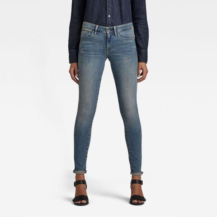 Ανδρικό παντελόνι G-Star Midge Zip Mid SkinnyJeans Αυθεντικό