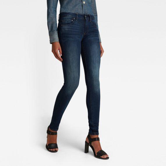 Ανδρικό παντελόνι G-Star Midge Zip Mid-Waist Skinny Jeans Αυθεντικό