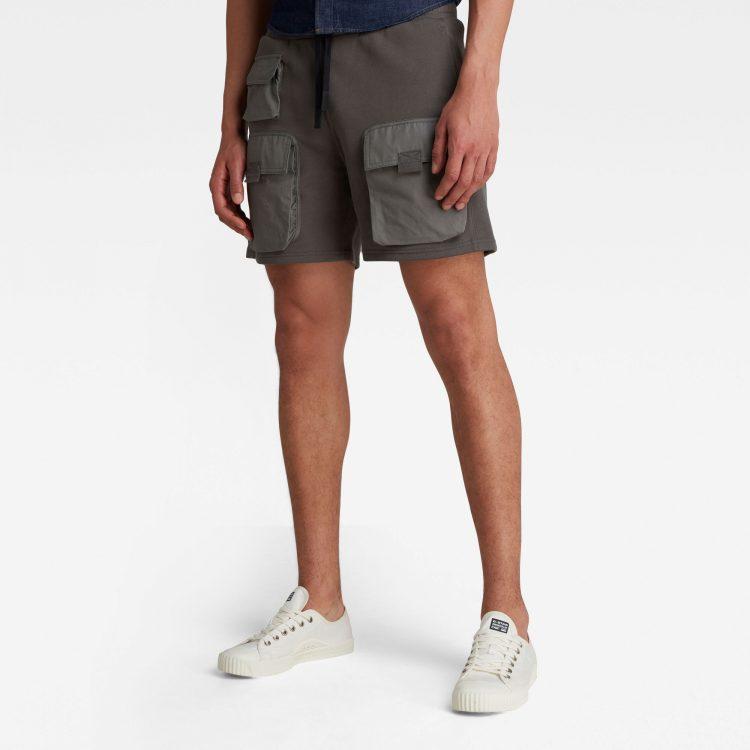Ανδρικό παντελόνι G-Star Mixed Woven Cargo Sweat Shorts Αυθεντικό