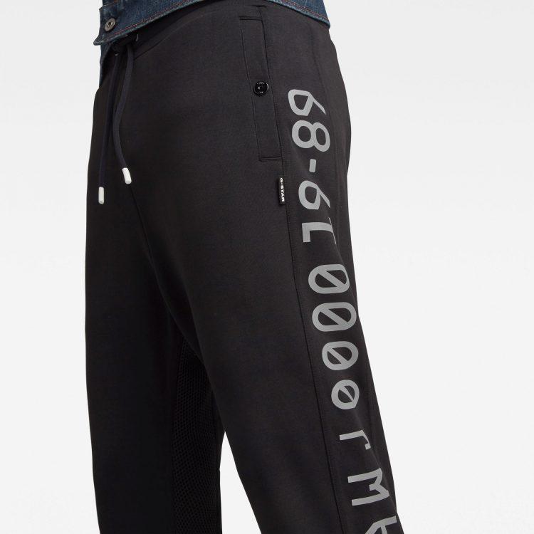 Ανδρικό παντελόνι G-Star Moto Mixed Mesh Sweatpants | Αυθεντικό 4