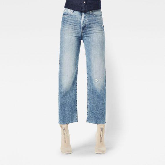Ανδρικό παντελόνι G-Star Tedie Ultra High Straight Ripped Edge Ankle Jeans Αυθεντικό