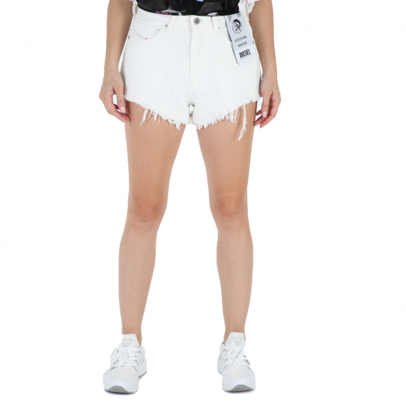 DIESEL - Γυναικείο jean σορτς DIESEL DE-HIGWY CALZONCINI λευκό