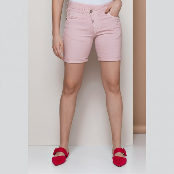 EDWARD JEANS - Γυναικεία jean βερμούδα EDWARD JEANS LAPIS-RAM ροζ